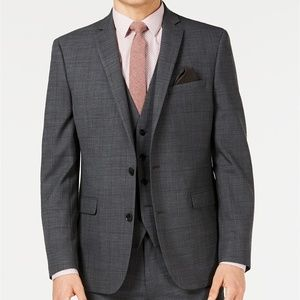 NEW Bar III Slim Fit Windowpane Suit Jacket